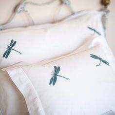 Teal Dragonfly Pillowcase by SARAHK designs | SARAHK designs
