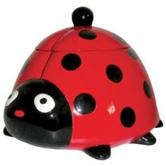 Kookie Jars Lady Bug Cookie Jar by Westland Giftware Ladybug Cookies, Cute Cookies, Biscuit Cookies, Cookie Dough, Cookie Jars For Sale, Westland Giftware, Ladybug Party, Ladybug Decor, Ladybug House