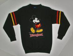 80s Mickey Mouse Sweatshirt Disneyland black by JaybrrdsWhatnots