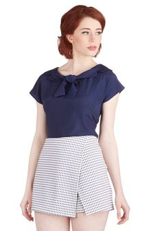 Lady Likability Skort. Get the stylish femininity of a skirt with the comfort of shorts by donning this adorable patterned skort!  #modcloth