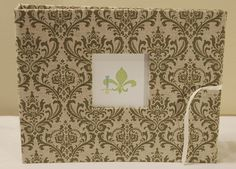 Madison Green Fabric Baby Book  (available online www.lilsquirts.net)  New Orleans, Louisiana, North Louisiana, Bebe Acadien, Gulf Coast, Mobile Bay and Atlanta.