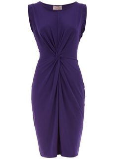 Purple Dress - I love how its gathered in the middle!