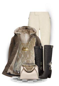 """Fendi Coat Purse & Antonio Boots Outfit Only"" by maison-de-forgeron ❤ liked on Polyvore featuring Vince, Fendi, Pierre Cardin, Michael Antonio, women's clothing, women, female, woman, misses and juniors"