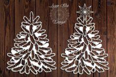 Baumblatt leaf tree Laser Paper Cut Vinyl File Design to Cool Christmas Trees, Christmas Tree Decorations, Christmas Tree Ornaments, Christmas Crafts, Xmas, Wedding Decorations, Homemade Pictures, Oak Tree Tattoo, Laser Paper