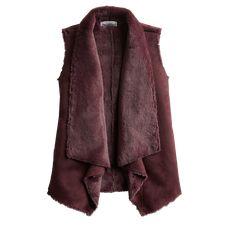 Stitch Fix Fall Stylist Picks: Wine Colored Shearling Vest