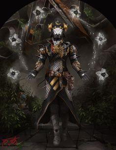 Coffin Collars by TheGreaterDesign on DeviantArt Destiny Bungie, Destiny Warlock, Destiny Fallen, Destiny Gif, Dark Fantasy Art, Sci Fi Fantasy, Armor Concept, Concept Art, Video Game Art