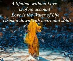 Love is the water of life Rumi Poem, Rumi Quotes, Soul Quotes, Strong Quotes, Spiritual Power, Spiritual Awakening, Only Love Is Real, Kabir Quotes, Definition Of Love