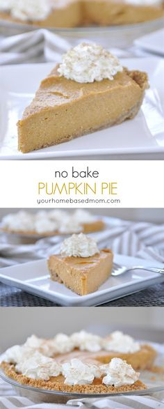 No Bake Pumpkin Pie