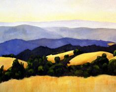 landscape oil painting print 11x17 California by clairespaintings