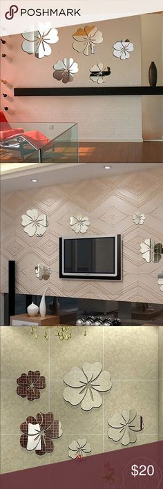 5pc DIY flower wall mirrors set DIY wall decor. Looks amazing! Accessories