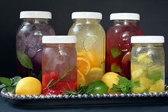 flavored water recipes...