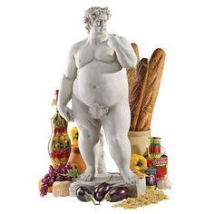 Fat David Statue - 21st Century Reality