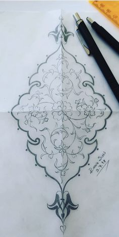 Islamic Art Pattern, Arabic Pattern, Pattern Art, Hand Embroidery Designs, Embroidery Patterns, Motif Arabesque, Illumination Art, Fashion Design For Kids, Beadwork Designs