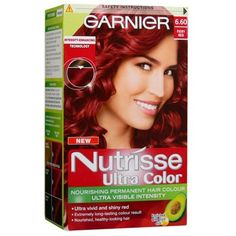 take everyday, make it something new.: Red hair using Garnier Nutrisse Ultra Colour in Fiery red Red Violet Hair, Dyed Red Hair, Bright Red Hair, Hair Color Purple, Dye My Hair, Feria Hair Color, Garnier Hair Color, Velvet Hair, Permanent Hair Color