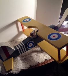 Hand-Made Vintage Snoopy the Red Baron in Wooden Airplane, 1960's Fun Collectible, or Decor. on Etsy, $36.00