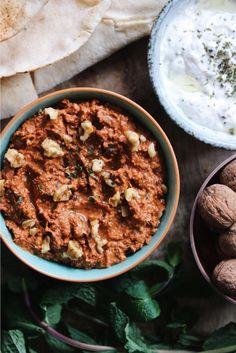 Recept muhammara (dip van walnoten en paprika)