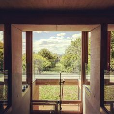 Nearing completion - this carefully crafted Passivhaus in Buckinghamshire was recently described by a visitor as having a 'Donald Judd clarity of. Architects, Construction, Windows, Building, Window, Ramen