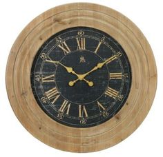 View the Aspire Home Accents 4172 30 Inch Diameter Framed Wood Clock from the Jillian Collection at Build.com.