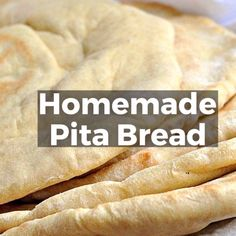 If you've wondered how to make homemade pita bread Pita Recipes, Greek Recipes, Cooking Recipes, Cake Recipes, Homemade Pita Bread, Homemade Tortillas, Sandwich Ingredients, Bread And Pastries, Mediterranean Recipes