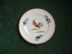 Vintage Italy Rooster Small Plate by lookonmytreasures on Etsy