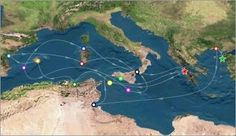 Map of Odysseus' travels: excellent resource for teaching The Odyssey