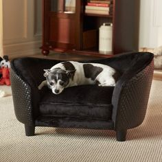 Enchanted Home Pet Ultra Plush Snuggle Bed 265 by 16 by 16Inch Black Basket ** Be sure to check out this awesome product.