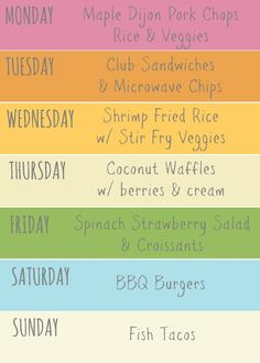 weekly meal plan /// simple meals the whole family will love