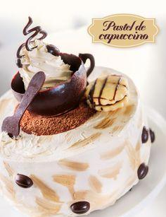 Queremos compartirte, esta receta que Paulina Abascal ha realizado para  nuestros clientes. Un pastel de Capuccino, te dejamos el link que tiene el  procedimiento para que puedas lograr un look similar si asi lo deseas ó una  idea de crear un nuevo sabor en tus vitrinas.  Ingredientes 151 gr. de Harina Backen Chocolate o pudding cake Pillsbury.  ( Premezcla) 110 gr. Huevo. 18 ml. Agua 8 ml. Aceite 2gr. Polvo de hornear  750 ml. Crema para batir Hanan's 5ml. Concentrado de café 100 gr… Fancy Desserts, Cookie Desserts, Traditional Cakes, Dessert Decoration, Just Cakes, French Pastries, Sweet Cakes, Party Cakes, Let Them Eat Cake