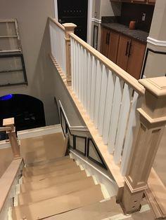Banister remodel Banister Remodel, Banisters, Staircase Railings
