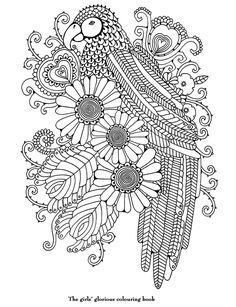 coloriage perrroquet