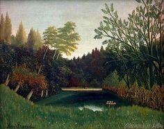 Henri J.F. Rousseau - Vue du Bois de Boulogne