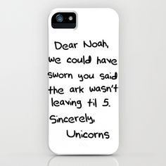 Sincerely, The Unicorns revisited iPhone Case by Caleb Troy - $35.00