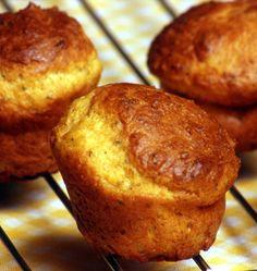 Muffins au parmesan et au thym Parmesan, My Recipes, Cooking Recipes, Brownie Cookies, 20 Min, Soul Food, Entrees, Tapas, Healthy Snacks