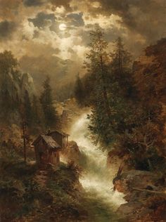 Motive from Norway by Josef Thoma (1828-1899)