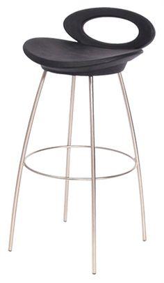 stationary brushed steel bar stool