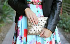 | floral + leather |