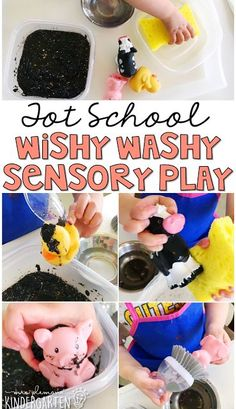 This Mrs. Wishy Washy themed sensory bin was fun for little hands to explore. Perfect for a farm theme in tot school, preschool, or the kindergarten classroom.