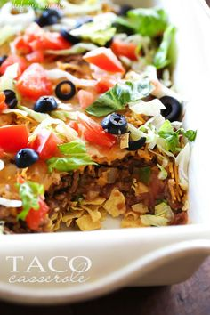 Taco Casserole... this is an easy and delicious dinner…