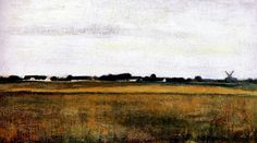 Hammershoi, Vilhelm (1864-1916) - 1888 Landscape from Virum near Frederickdal in Summer