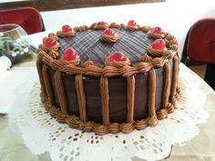 Torta chocolate y buttercream de dulce de leche