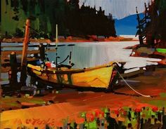 """Klemtu Inlet by Michael O'Toole Acrylic ~ 8"""" x 10"""""""