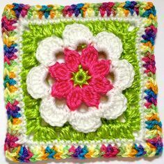 Hooked on Granny Squares: free #crochet pattern