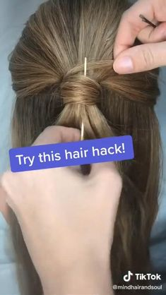 Easy Hairstyles For Long Hair, Pretty Hairstyles, Girl Hairstyles, Heatless Hairstyles, Fast Hairstyles, Formal Hairstyles, Hair Hacks, Hairstyle Hacks, Hair Pins