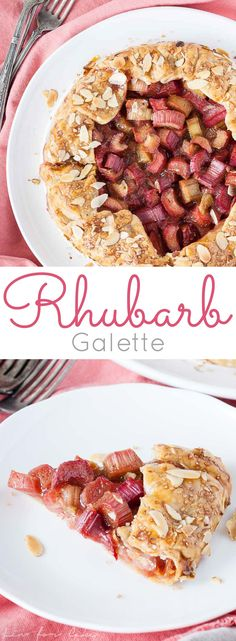 Make the most of rhubarb season! 10 minutes of prep is all you need to make this simple Rhubarb Galette. | livforcake.com