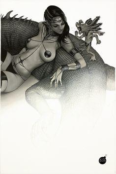 Dejah Thoris by Aype Beven, in Carlos Simoes's Dejah Thoris Collection Comic Art Gallery Room - 1021431