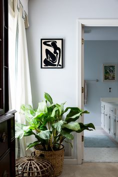 Maggie consistently has beautiful artwork throughout her home.