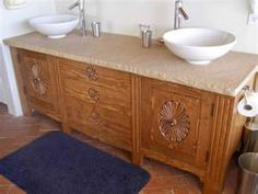 A nice Southwest bathroom sink with two water bowls.