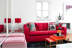 If the space (and your roommate) allows it, create a common space and theme by pairing up the furniture in your dorm room. The similarity in style and color would not only make the small room feel more spacious but also make it look like an intentional decorating decision. #CollegeEdition #DormDecorating #wall #dormroom #interiordesign #decorating #decoratingtips