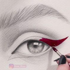 art drawings 10 oddly satisfying art video, c - art Pencil Art Drawings, Art Drawings Sketches, Cute Drawings, Realistic Drawings, Watercolor Video, Watercolor Art, Eye Art, Art Sketchbook, Art Techniques