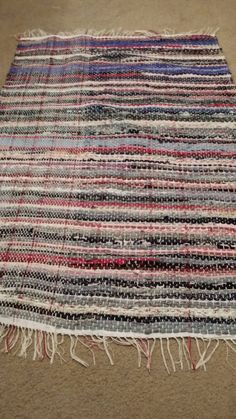 Blues and Reds Traditional Handwoven Rag Rug, Fabric Rug, Rug  Check out this item in my Etsy shop https://www.etsy.com/listing/209357851/blues-and-reds-traditional-handwoven-rag